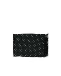 Michelsons of london polka dot broad silk scarf black medium 112223