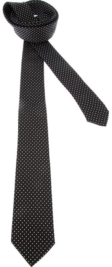 dea1431b056b Dolce & Gabbana Polka Dot Tie, $195 | farfetch.com | Lookastic.com