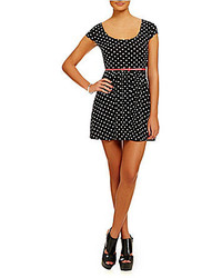 Belted polka dot skater dress medium 193372