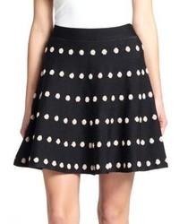 BCBGMAXAZRIA Gloriah Dot Print Mini Skirt