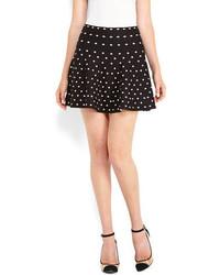 Black White Polka Dot Skater Skirt
