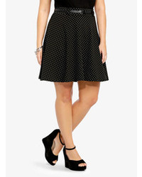 Torrid polka dot belted skater skirt medium 85734