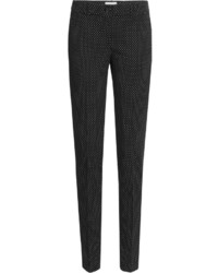 Michl kors virgin wool pants with polka dots medium 420664