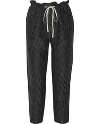 3.1 Phillip Lim Polka Dot Silk And Cotton Blend Straight Leg Pants
