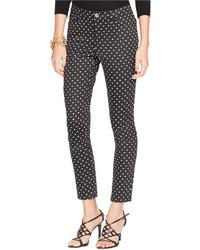 Lauren Ralph Lauren Polka Dot Skinny Ankle Pants