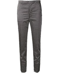 Toga Polka Dot Cropped Skinny Trousers