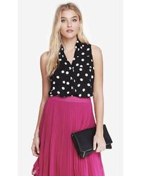 Express Polka Dot Sleeveless Portofino Shirt