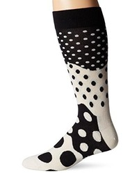 Happy Socks 1pk Combed Cotton Divided Dot Crew Sock