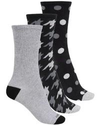 Kensie Light Socks 3 Pack Crew