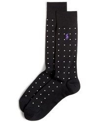 Ralph Lauren Mercerized Dot Crew Socks