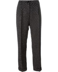 Dolce & Gabbana Polka Dot Brocade Trousers