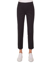 Akris Punto Franca Mini Dot Stretch Cotton Pants