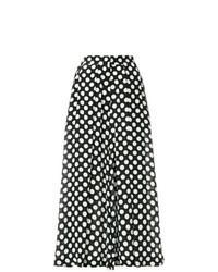 Black and White Polka Dot Wide Leg Pants