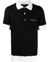Balmain Contrast Trim Polo Shirt