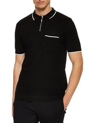 Topman Front Zip Polo Shirt
