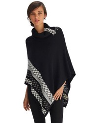 Black and white poncho original 10214325