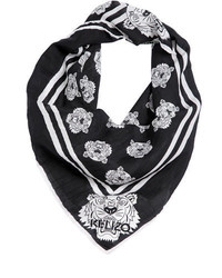 Kenzo Tiger Printed Cotton Blend Bandana