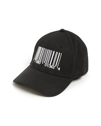 Black and White Print Baseball Cap