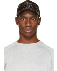 Neil Barrett Black 3d Prism Baseball Cap