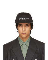 Givenchy Black And White Canvas Logo Cap