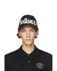 Alexander McQueen Black And White Graffiti Logo Cap