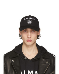 Balmain Black And White Logo Cap