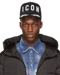 DSQUARED2 Black Be Icon Baseball Cap