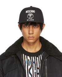 Moschino Black Canvas Snapback Cap