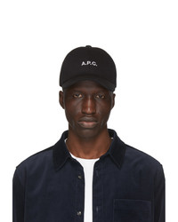 A.P.C. Black Charlie Cap
