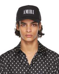 Amiri Black Core Logo Trucker Cap