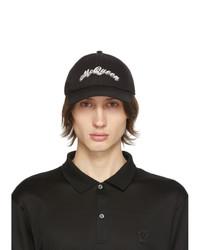 Alexander McQueen Black Double Logo Cap