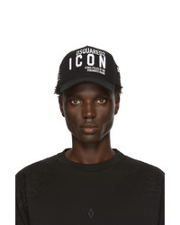 DSQUARED2 Black Gabardine Cap