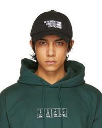 Vetements Black Limited Edition Cap
