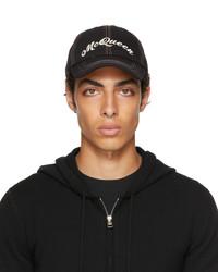 Alexander McQueen Black Multicolor Baseball Cap