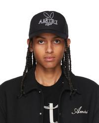 Amiri Black Playboy Edition Bunny Trucker Cap