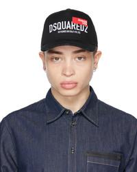 DSQUARED2 Black Red Tag Baseball Cap