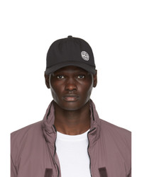 Stone Island Black Six Panel Cap