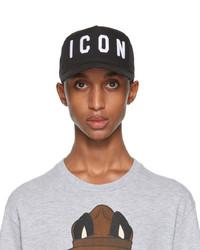DSQUARED2 Black White Icon Baseball Cap
