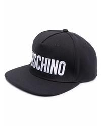 Moschino Logo Print Flat Cap