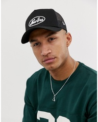 New Era Logo Trucker Cap In Black