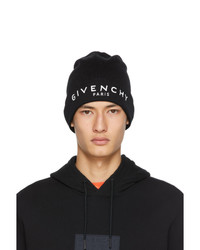 Givenchy Black And White Logo Beanie