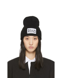 Noah NYC Black Deliver Us From Evil Beanie