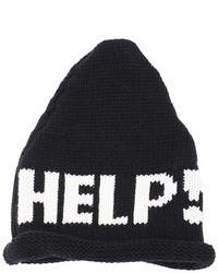 Help Print Knitted Beanie Black