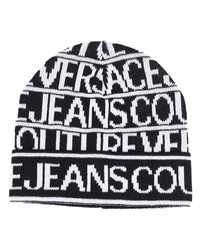 VERSACE JEANS COUTURE Logo Print Knitted Beanie