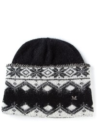 Maison Michel Chain Trim Printed Beanie