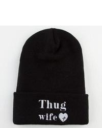 Young reckless thug wife beanie black one size for 233988100 medium 101393