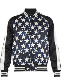 Valentino Camustars Print Satin Bomber Jacket