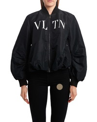 Valentino Oversize Logo Bomber Jacket