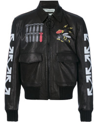 726d73cc3 Men's Black and White Bomber Jackets by Off-White | Men's Fashion ...