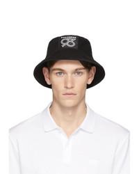Hugo Black 93 Badge Bucket Hat